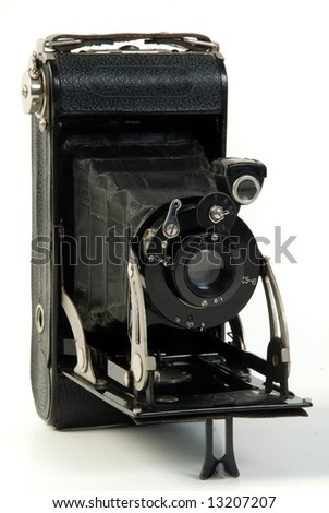 vintage Photo folding camera, roll film
