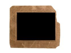 vintage photo frame isolated on white