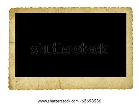 Vintage photo frame isolated on white - stock photo