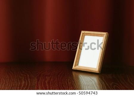 vintage photo-frame on table