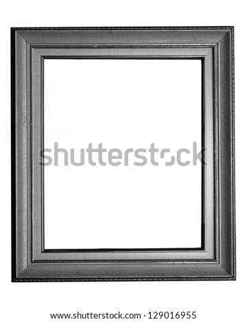 vintage photo frame on white background