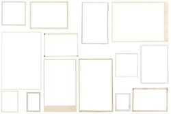 Vintage Photo Frames isolated on white background