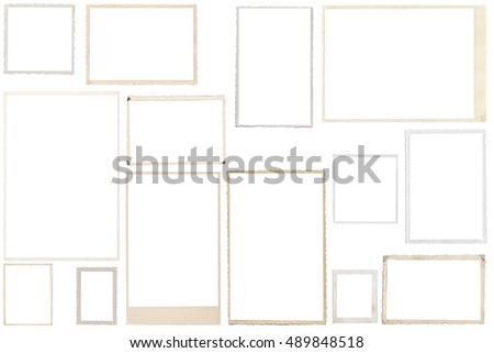 Vintage Photo Frames isolated on white background #489848518