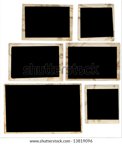 vintage photo frames - 6 various edges