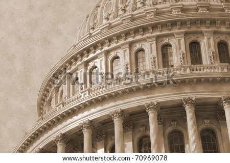 Vintage photo imitation of Washington DC architectural details