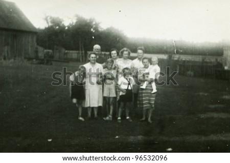 Vintage photo of - stock photo