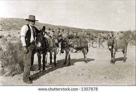 vintage photo of a prospector...