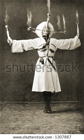 vintage photo of a russian...
