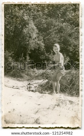 Vintage photo of boy (fifties)