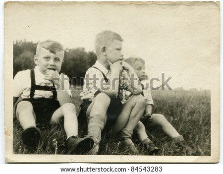 vintage photo of brothers ...
