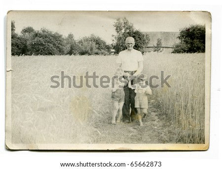vintage photo of grandfather...