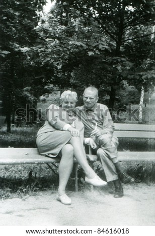 Vintage photo of happy couple  (early sixties)