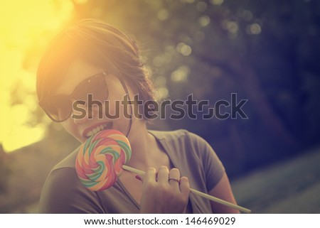 Vintage photo of lollipop woman