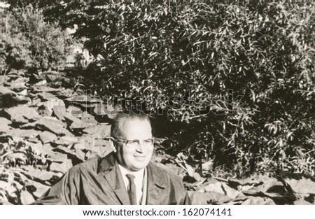 Vintage photo of man, fifties