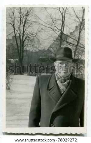 Vintage photo of man (fifties)