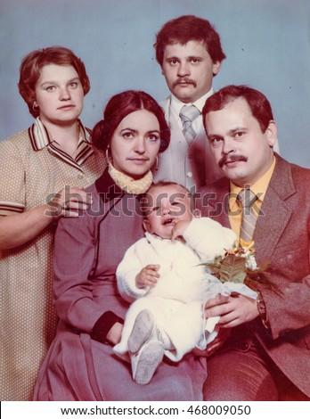 vintage photo of parents  god...