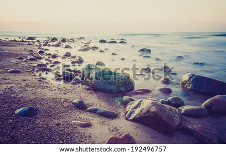 vintage photo of stony beach