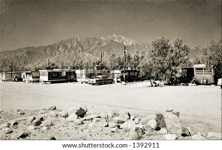 Vintage photo of Travel Trailers