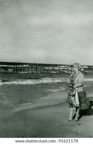 Vintage photo of woman (fifties)