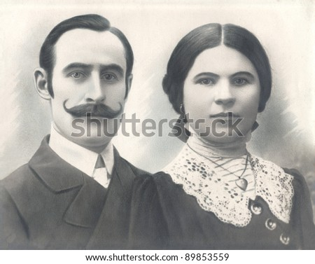 Vintage photograph of a couple circa 1920.