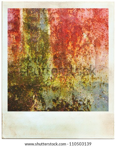 Vintage photos instant photo abstract rusty colored  background