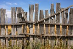 Vintage picket fence