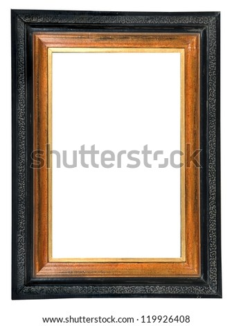 Vintage picture frame, isolated