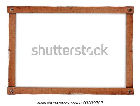 Vintage picture frame isolated on a white background (Save Paths For design work) - stock photo
