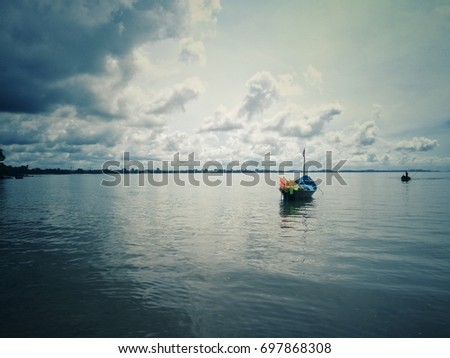 vintage picture of fishing boat ...