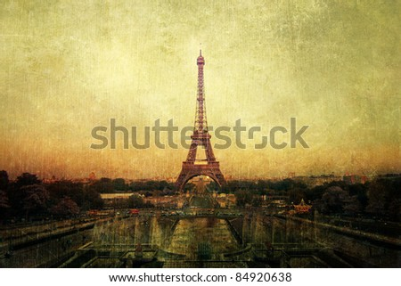 vintage picture of Paris