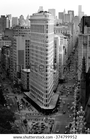 vintage picture of the flatiron ...