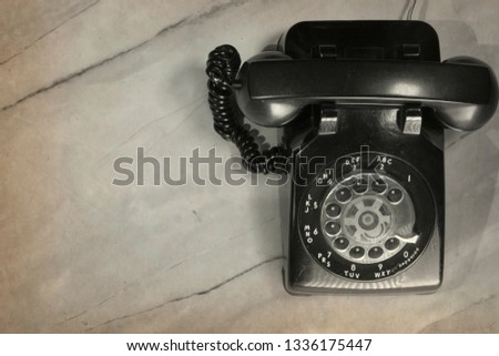 vintage picture of vintage telephone #1336175447