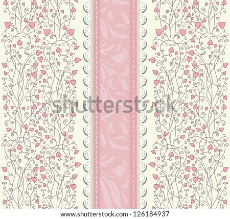 Vintage pink background for invitation, backdrop, card, new year brochure, banner, border, wallpaper, template, texture raster version
