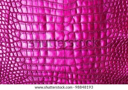 Vintage pink crocodile skin texture. - stock photo