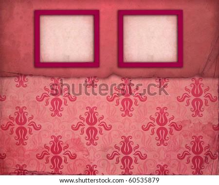 Vintage pink photo frame