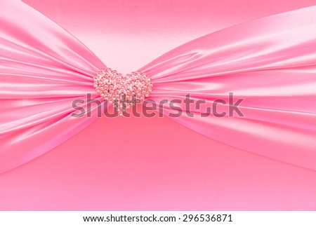 Vintage pink tone handmade love of  gift box wedding or Valentine Day, close-up