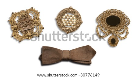 Vintage Pins and Bow Tie