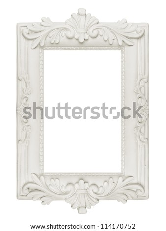 Vintage plaster frame included path