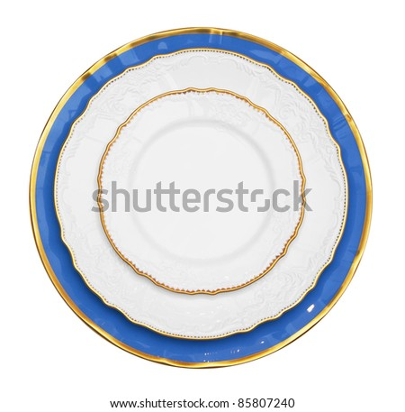 Vintage Plate isolated on white background