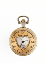 vintage pocket watch isolated over white background