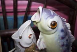 vintage porcelain fish figurine