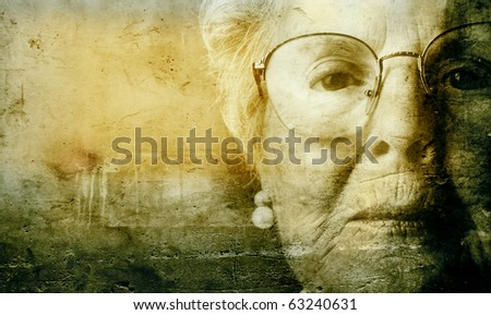 Vintage portrait of an old woman