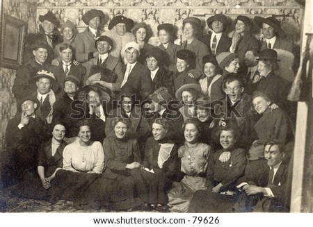 vintage portrait of group of...