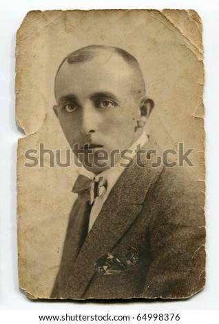vintage portrait of man
