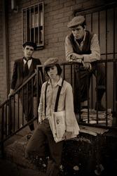 Vintage Portrait of Newspaper Boys