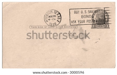 Vintage Post Card - Add Your Address & Message