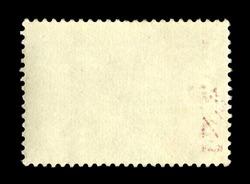Vintage postage stamp on a black background