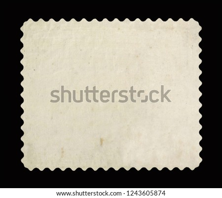 Vintage postage stamp on a black background #1243605874