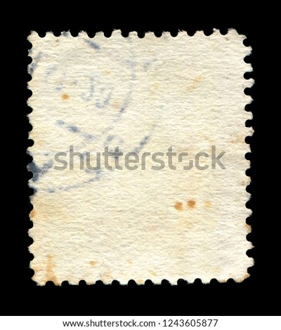 Vintage postage stamp on a black background #1243605877