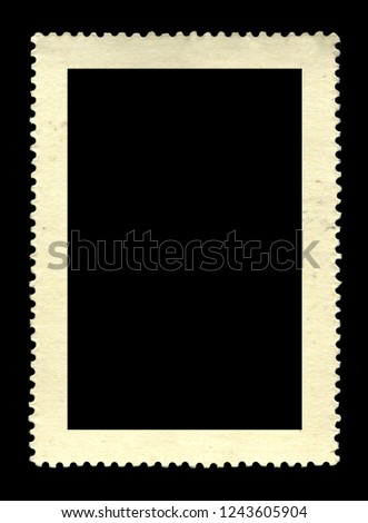 Vintage postage stamp on a black background #1243605904